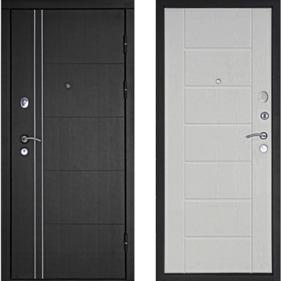 Входная дверь Тепло-Люкс Беленый дуб, цена 17,990 руб | Купить в интернет-магазине «Дверной Континент» в Новосибирске