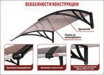 Козырек Сапфир, цена 4,200 руб | Купить в интернет-магазине «Дверной Континент» в Новосибирске