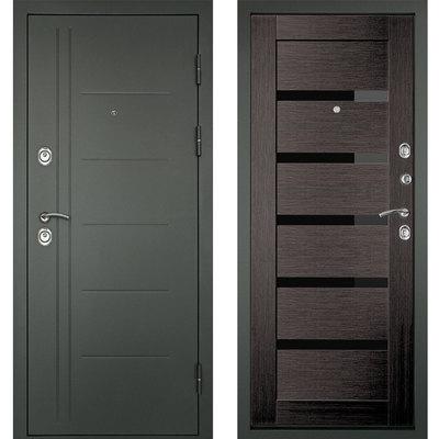 Входная дверь Сити-С3К  Венге, цена 21,990 руб | Купить в интернет-магазине «Дверной Континент» в Новосибирске