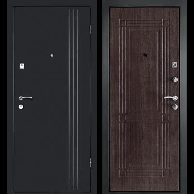 Входная дверь Лайн-1 Венге, цена 13,150 руб | Купить в интернет-магазине «Дверной Континент» в Новосибирске