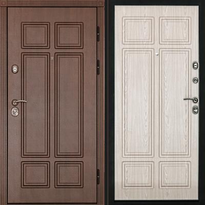Входная дверь Консул Беленый дуб, цена 27,990 руб | Купить в интернет-магазине «Дверной Континент» в Новосибирске