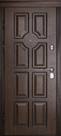 Входная дверь Порта Темный орех, цена 29,990 руб   Купить в интернет-магазине «Дверной Континент» в Новосибирске
